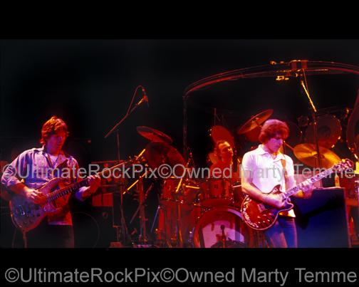 Photos of Phil Lesh and Bob Weir of The Grateful Dead in Concert in the 1980's by Marty Temme