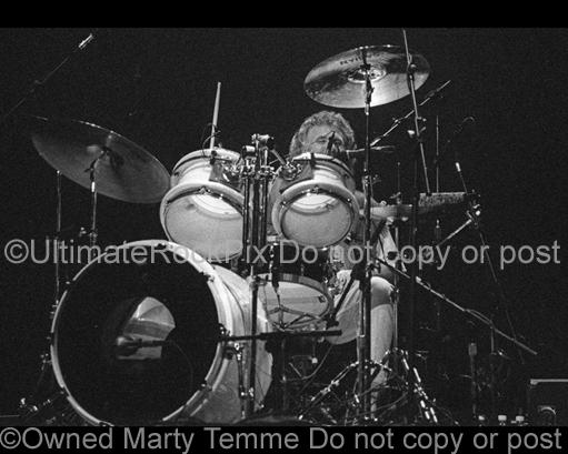 Photos of Drummer Don Brewer of Grand Funk Railroad in Concert Performing in 1999 by Marty Temme