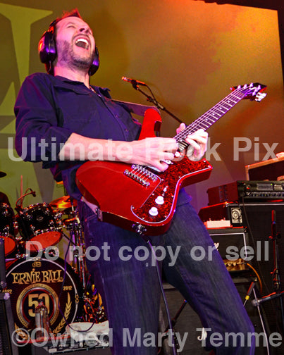 Photo of guitar player Paul Gilbert of Mr. Big in concert in 2012 - gilbert129240