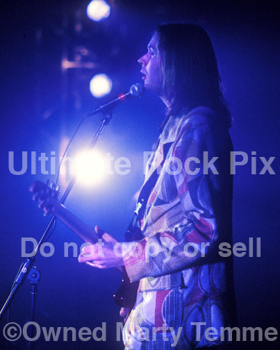 Photo of Paul Gilbert of Mr. Big in concert in 1998 by Marty Temme