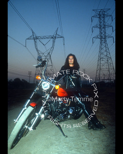 Photo of Gilby Clarke of Guns N' Roses during a photo shoot in 1989 by Marty Temme
