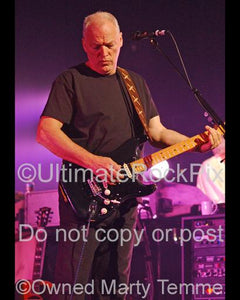 Photos of David Gilmour Playing his Fender Stratocaster in Concert by Marty Temme