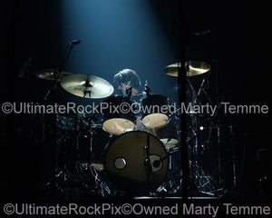 Photos of Drummer Steve DiStanislao Performing with David Gilmour of Pink Floyd in Concert by Marty Temme