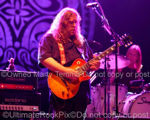 Photos of Guitarist  Warren Haynes of Gov't Mule in Concert by Marty Temme