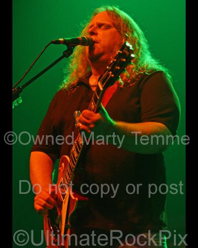 Photos of Guitar Player Warren Haynes of Gov't Mule in Concert in 2008 by Marty Temme