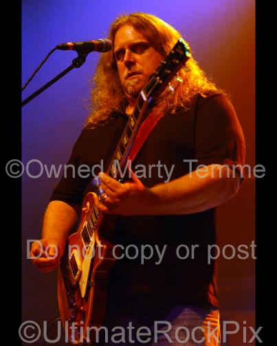 Art Print of Warren Haynes of Gov't Mule playing a Gibson Les Paul in concert in 2008 by Marty Temme