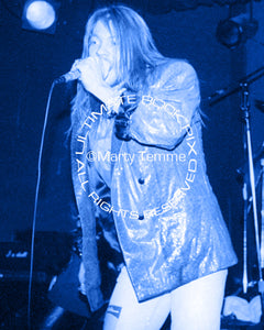 Art Print of Axl Rose of Guns N' Roses in concert in 1989 by Marty Temme