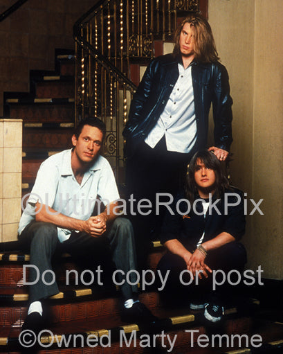Photo of Johnny Rzeznik and Goo Goo Dolls during a photo shoot by Marty Temme