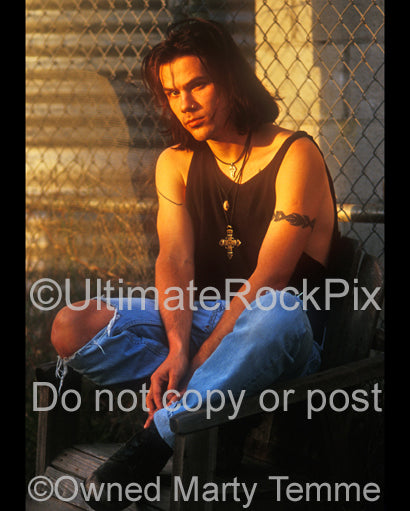 Photo of Christopher Hall of Stabbing Westward during a photo shoot by Marty Temme