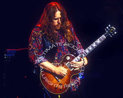 Photo of Warren Haynes of The Allman Brothers in 1994 by Marty Temme