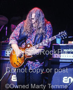 Photos of Warren Haynes of The Allman Brothers in 1994 by Marty Temme
