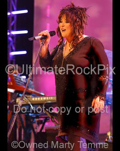Photos of Singer Ann Wilson of Heart in Concert in 2007 by Marty Temme