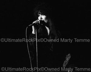Photos of Singer Ann Wilson of Heart in Concert in 1978 by Marty Temme