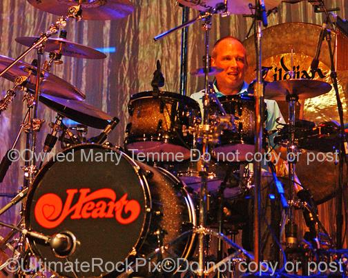 Photos of Drummer Ben Smith of Heart in Concert in 2007 by Photographer Marty Temme
