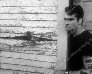 Black and white photo of Henry Rollins of Black Flag in 1990 - henry909bw