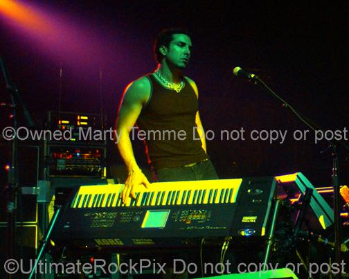 Photos of Keyboardist Derek Sherinian in Concert by Marty Temme