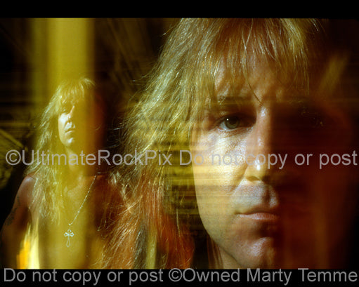 Photo of Jack Russell of Great White during a photo shoot in 1992 by Marty Temme