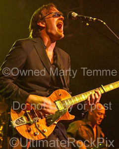 Photos of Guitar Player Joe Bonamassa Playing a Gibson Les Paul with a Bigsby Tremolo by Marty Temme