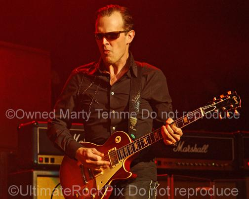 Photos of Guitar Player Joe Bonamassa Playing a Gibson Les Paul and Marshall Amps by Marty Temme