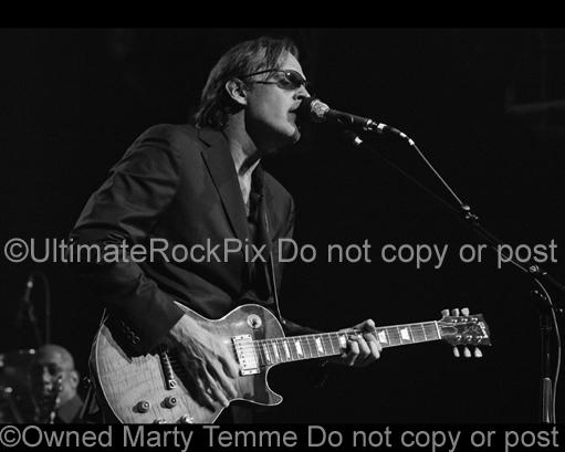 Black and White Photos of Joe Bonamassa Playing a Les Paul by Marty Temme
