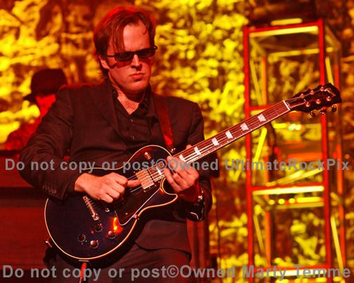 Photos of Joe Bonamassa Playing a Black Gibson Les Paul Standard by Marty Temme