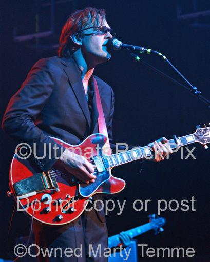 Photos of Joe Bonamassa Playing a Red Gibson 355 in Concert by Marty Temme