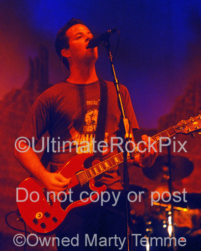 Photo of guitarist Tom Linton of Jimmy Eat World in concert by Marty Temme