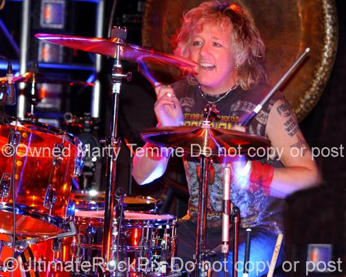 Photos of drummer James Kottak of Scorpions and Warrant by Marty Temme