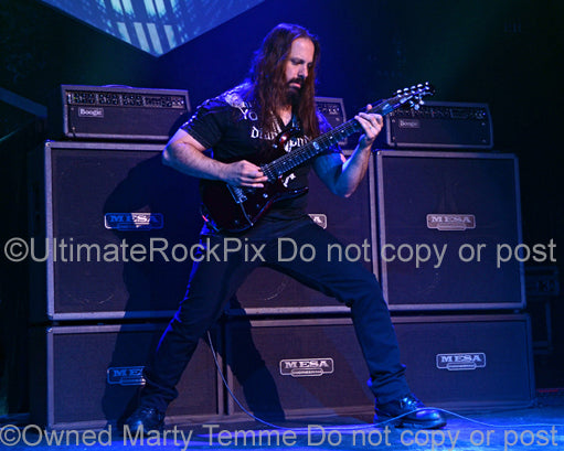 Photo of John Petrucci of Dream Theater in concert in 2012 by Marty Temme