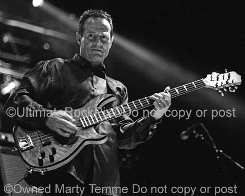 Photos of Bassist John Paul Jones of Led Zeppelin in Concert by Marty Temme