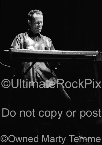 Photos of John Paul Jones of Led Zeppelin Playing Pedal Steel Guitar in Concert by Photographer Marty Temme
