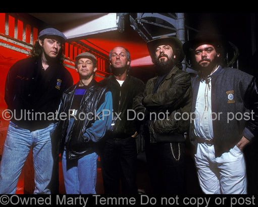 Photo of Ian Anderson and Jethro Tull on Alcatraz Island in 1989 by Marty Temme