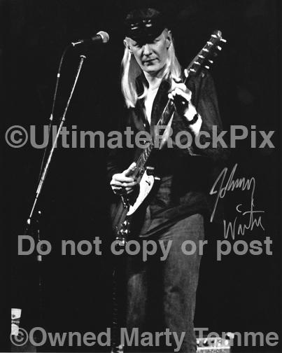 Reprints of Photos Signed by Johnny Winter by Marty Temme