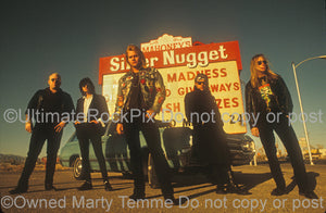 Photo of the band Junkyard during a photo shoot in 1991 by Marty Temme