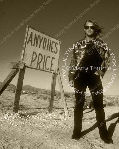 Art Print of singer David Roach of Junkyard during a photo shoot in 1991 by Marty Temme