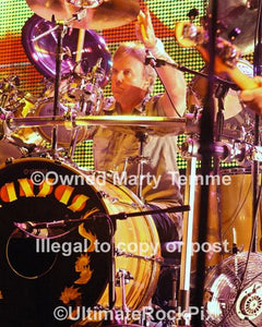 Photos of Drummer Phil Ehart of Kansas Performing in Concert by Marty Temme