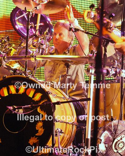 Photos of Drummer Phil Ehart of Kansas Performing in Concert in 2010 by Marty Temme