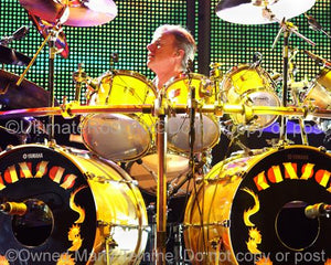 Photos of Drummer Phil Ehart of Kansas in Concert in 2010 by Marty Temme