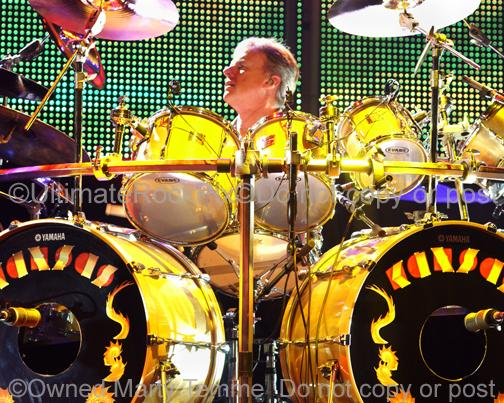Photos of Drummer Phil Ehart of Kansas in Concert by Marty Temme