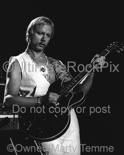 Photos of Guitar Player Kerry Livgren of Kansas in Concert in 1979 by Marty Temme
