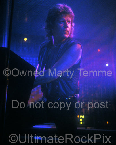 Photo of Keith Emerson of Emerson, Lake & Palmer in 1992 by Marty Temme