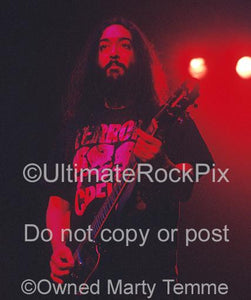 Photos of Kim Thayil of Soundgarden Playing a Guild Electric Guitar Onstage in 1996 by Marty Temme