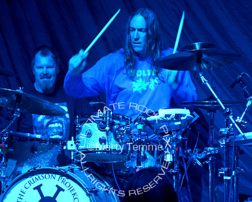 Photo of Danny Carey of Tool in concert with The Crimson Projekct by Marty Temme