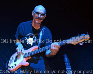 Photos of Bass Player Tony Levin of King Crimson and Peter Gabriel in Concert by Marty Temme