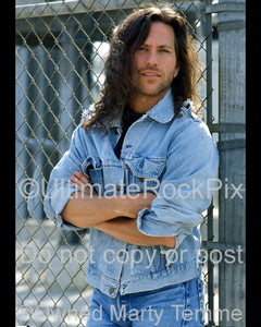 Photo of Kip Winger of Winger during a photo shoot in 1993 by Marty Temme