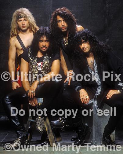 Photos of Paul Stanley, Gene Simmons, Eric Singer and Bruce Kulick of Kiss During a Photo Shoot in 1993 in Los Angeles, California by Marty Temme