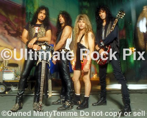 Photos of Paul Stanley, Gene Simmons, Eric Singer and Bruce Kulick of Kiss During a Photo Shoot in 1993 in Los Angeles, California by Photographer Marty Temme