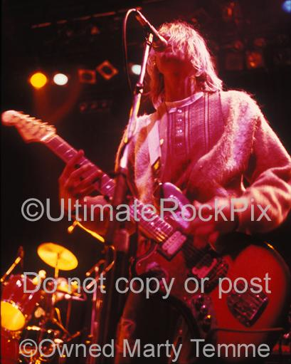 Photos of Kurt Cobain of Nirvana Singing in Concert in 1991 by Marty Temme