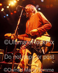 Photos of Kurt Cobain of Nirvana Performing Onstage in 1991 in Hollywood, California by Marty Temme