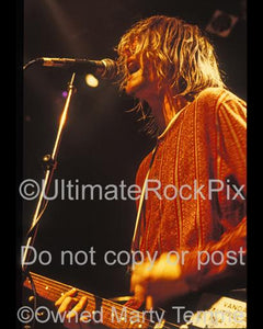 Photos of Kurt Cobain of Nirvana Performing in Concert in 1991 by Marty Temme
